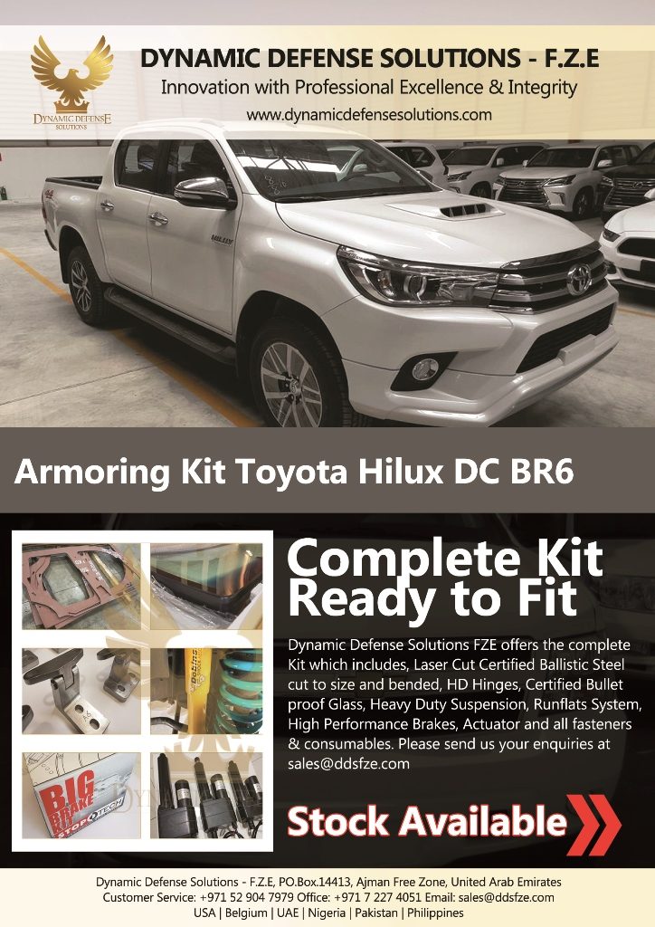 Armored Toyota Hilux Armoring Kit For Sale - Dynamic Defense ...