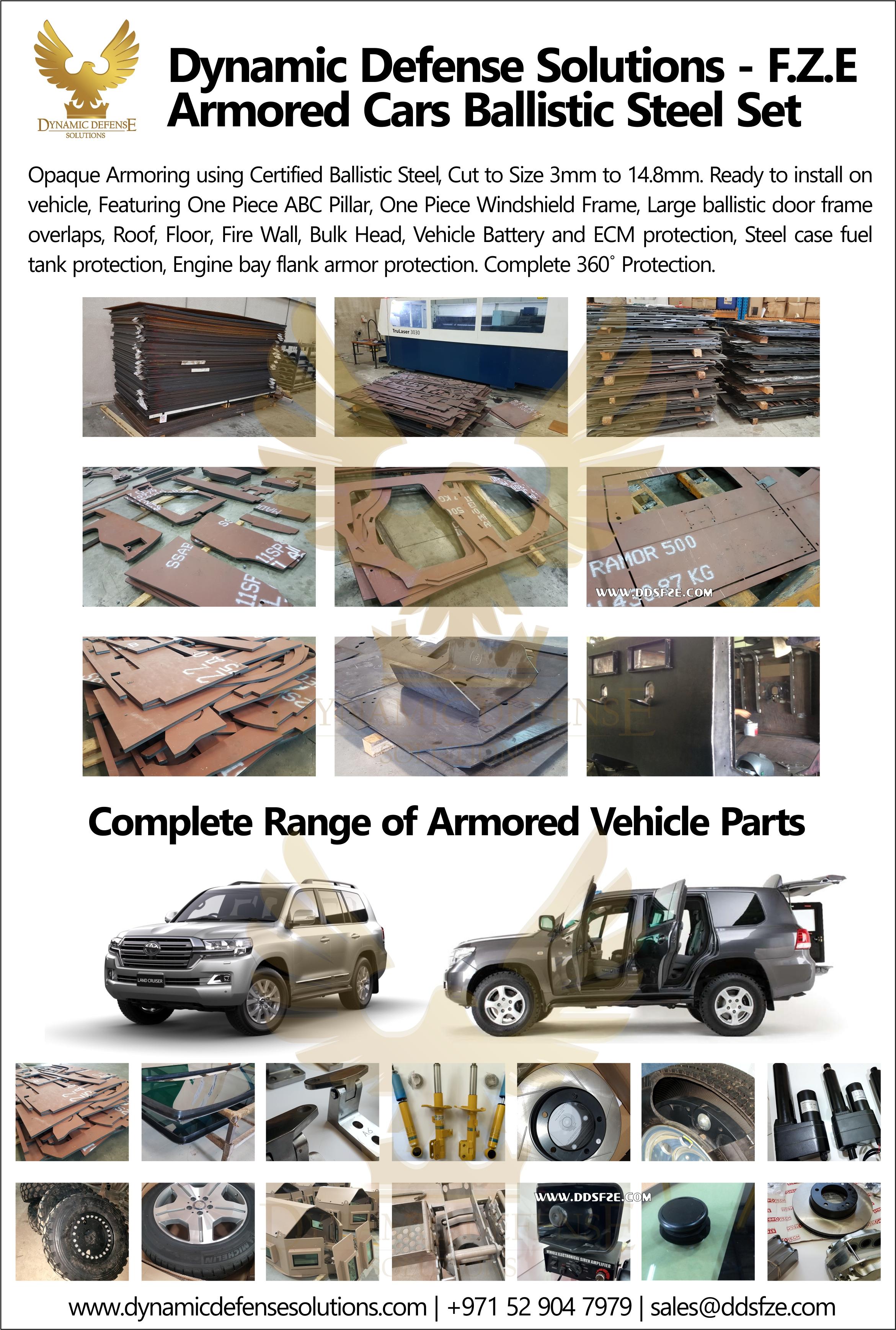 Armored Cars Toyota Land Cruiser 200 Ballistic Steel Parts
